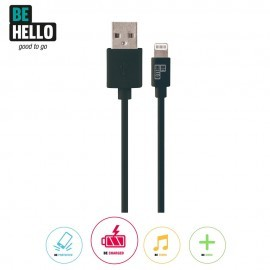 Be Hello Charge and Sync Cable Lightning 15 cm Black