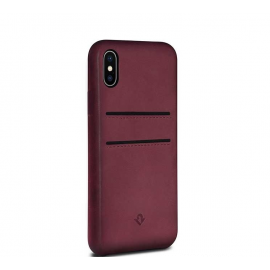 Twelve South Relaxed Leather pockets iPhone X Marsala