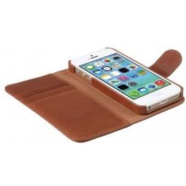 Melkco Alphard iPhone 5 / 5S / SE Book Case Leather Orange Brown
