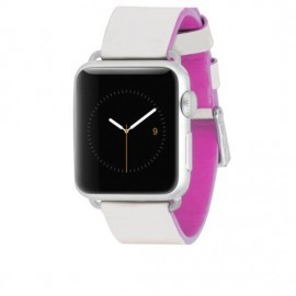 Case-Mate Edged Band Apple Watch 38mm wit / roze