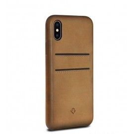 Twelve South Relaxed Leather pockets iPhone X cognac