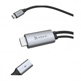 ADAM elements CASA H180 USB-C 4K 60Hz HDMI kabel grijs