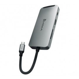ADAM elements CASA Hub A08 USB-C 3.1 8 port grijs