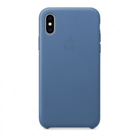Apple leather case iPhone X / XS light blue