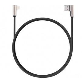 Aukey 90° kabel USB-A naar USB-C 1.2m zwart