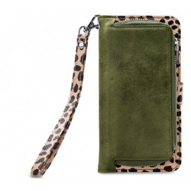 Mobilize 2in1 Gelly Wallet Zipper Case iPhone 6/6S/7/8 Plus olijf/leopard