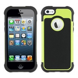 Muvit Anti-Shock Case iPhone 5(S)/SE zwart/groen