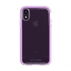 Tech21 Evo Check iPhone XR transparant / roze