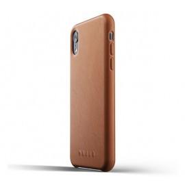 Mujjo Leather Case iPhone XR bruin