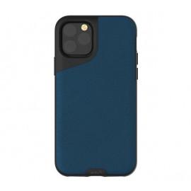 Mous Contour Leather iPhone 11 Pro Max blauw