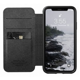 Nomad Rugged Case Folio Leather iPhone XS Max bruin