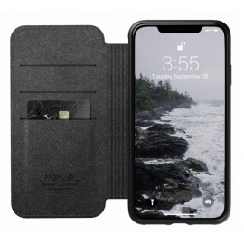 Nomad Rugged Case Folio Leather iPhone XS Max zwart