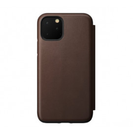 Nomad Rugged Folio Leather Case iPhone 11 Pro Max bruin