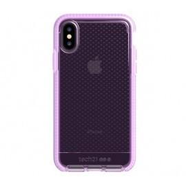Tech21 Evo Check iPhone X / XS transparant / roze