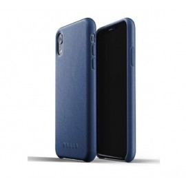 Mujjo Leather Case iPhone XR blauw