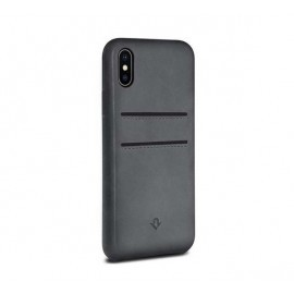 Twelve South Relaxed Leather pockets iPhone X / XS grijs