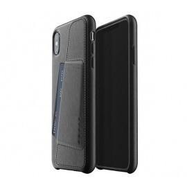 Mujjo Leather Wallet Case iPhone XS Max zwart