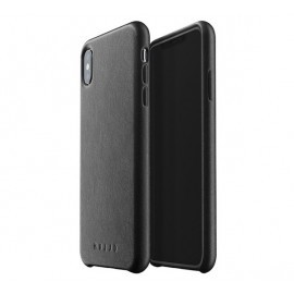 Mujjo Leather Case iPhone XS Max zwart