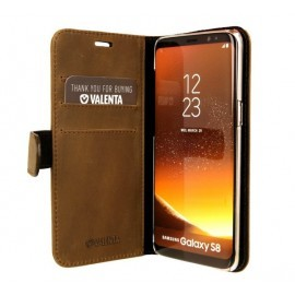 Valenta Booklet Classic Luxe Vintage Brown Galaxy S8 Plus