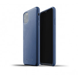 Mujjo Leather Case iPhone 11 Pro Max blauw