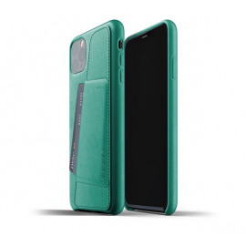 Mujjo Leather Wallet Case iPhone 11 Pro Max groen