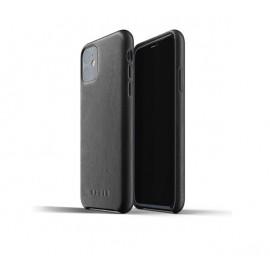 Mujjo Leather Case iPhone 11 zwart