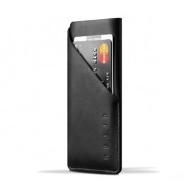 Mujjo wallet leren sleeve iPhone 7 / 8 / SE 2020 zwart
