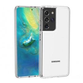 Casecentive Shockproof case Samsung Galaxy S21 Ultra transparant