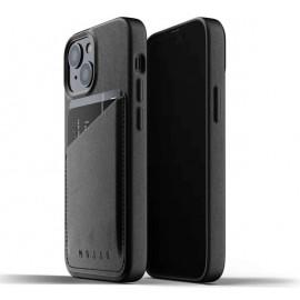 Mujjo Leather Wallet Case iPhone 13 zwart