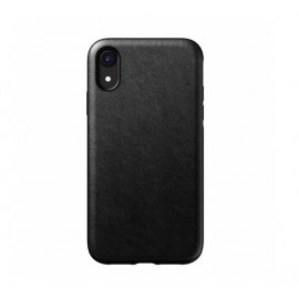 Nomad Rugged Case Leather iPhone XR zwart