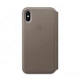 Apple Flip Case iPhone X / XS taupe