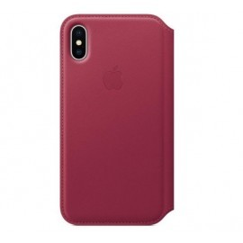 Apple Flip Case iPhone X / XS roze
