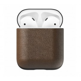 Nomad Airpod Leather Case bruin