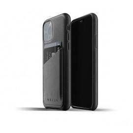 Mujjo Leather Wallet Case iPhone 11 Pro zwart