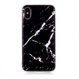 Casecentive Slim Hardcase Marble iPhone X / XS zwart