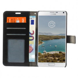 Casecentive Wallet Leather Case Galaxy Note 4 Black