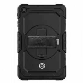 Casecentive Handstrap Pro Hardcase met handvat Galaxy Tab A 10.1 2019 zwart