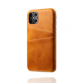 Casecentive Leren Wallet back case iPhone 12 Pro Max Tan