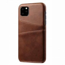 Casecentive Leren Wallet back case iPhone 11 Pro Max bruin