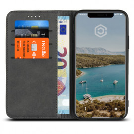 Casecentive Leren Wallet case iPhone X zwart
