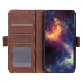 Casecentive Magnetische Leren Wallet Case Galaxy S20 Plus bruin