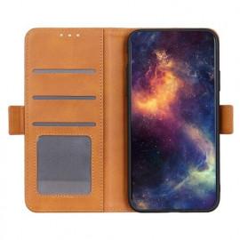 Casecentive Magnetische Leren Wallet case iPhone 12 Max / Pro tan