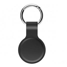 Casecentive siliconen sleutelhanger AirTag case zwart