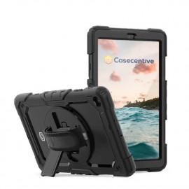Casecentive Handstrap Pro Hardcase met handvat Galaxy Tab A 8.4 2020 zwart