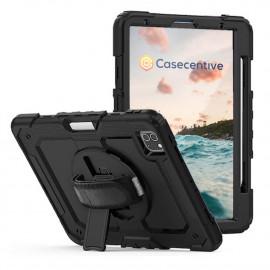 """Casecentive Handstrap Pro Hardcase met handvat iPad Pro 12.9"""" 2021 / 2020 / 2018 zwart"""