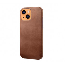 Casecentive Leren Back case iPhone 13 bruin