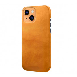 Casecentive Leren Back case iPhone 13 tan