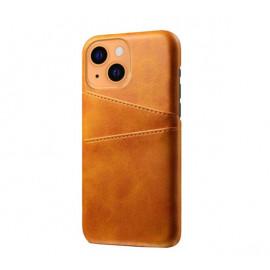 Casecentive Leren Wallet Back case iPhone 13 tan