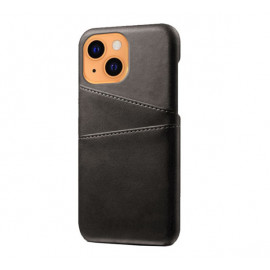 Casecentive Leren Wallet Back case iPhone 13 zwart
