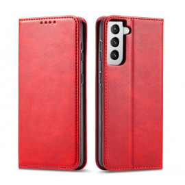 Casecentive Leren Wallet case Luxe Samsung Galaxy S21 Plus rood